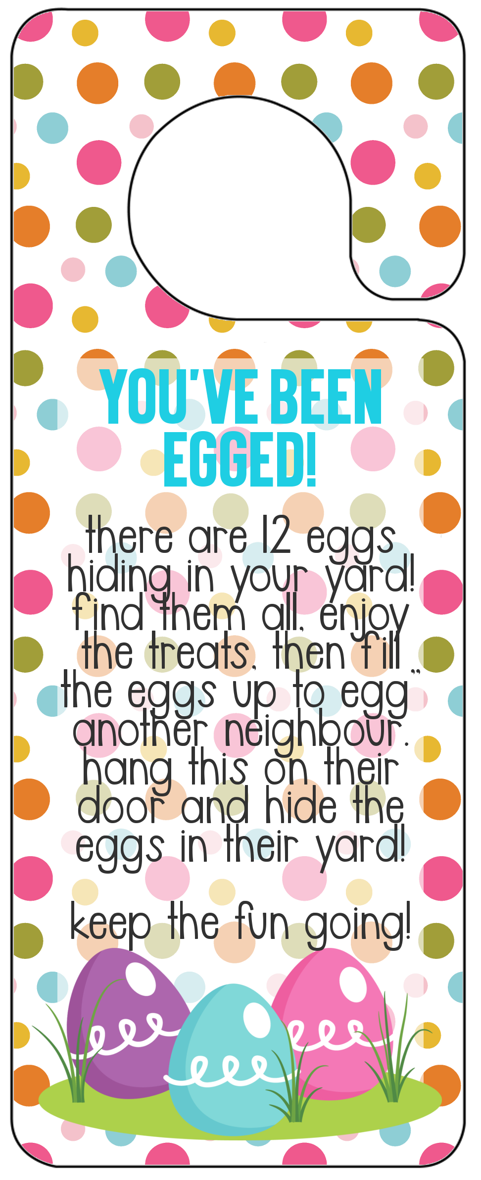 photo regarding You've Been Egged Printable identify Youve Been Egged Printable - The Simply just Built Everyday living