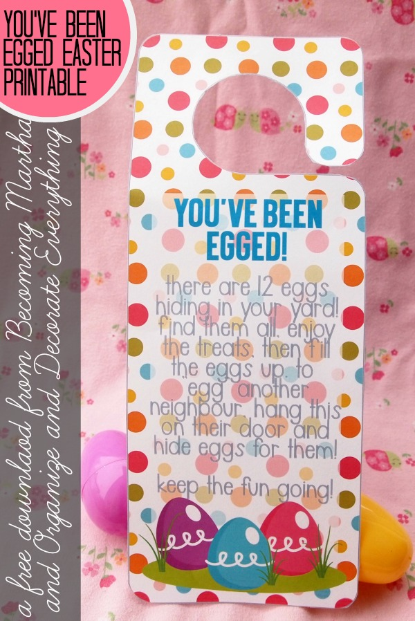 You've Been Egged - a fun Free printable game to play with your neighbours and friends this Easter!