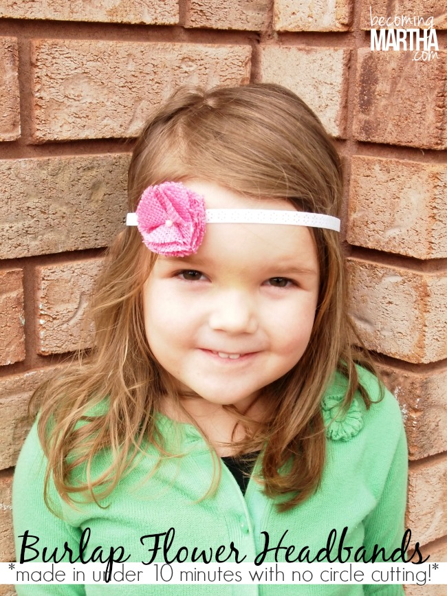 Ruffled Burlap Flower Headband