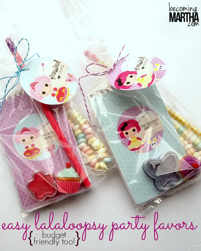 Easy Lalaloopsy Party Favors for Under $1!