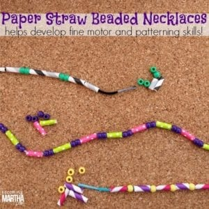 Paper Straw Necklaces