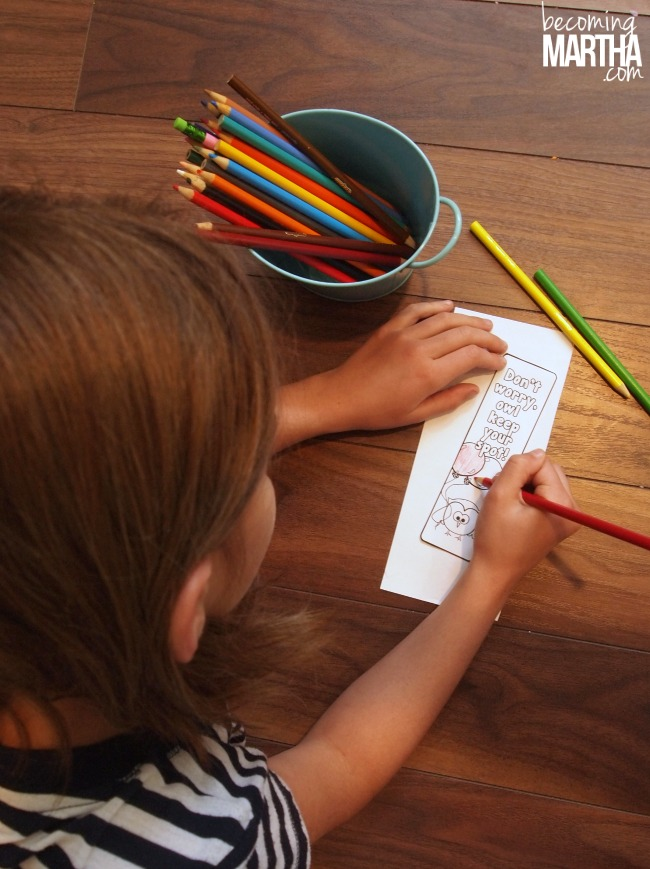 Color Your Own Printable Bookmarks!