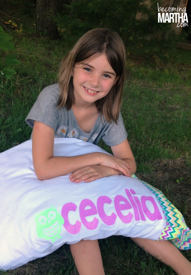 Personalized Pillowcases with Heat Transfer Vinyl