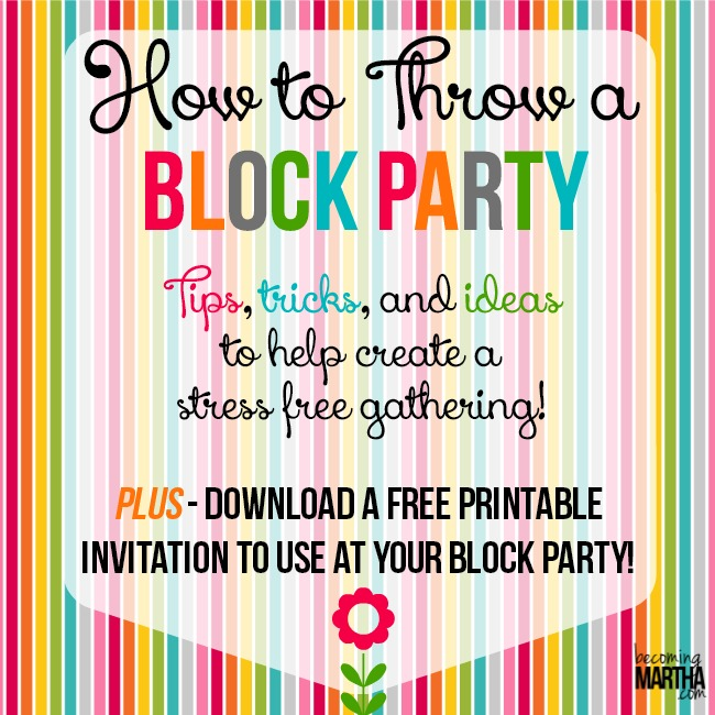 how to throw a block party printable invitation template the