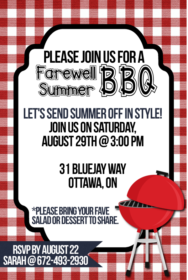 image about Free Printable Bbq Invitations identify BBQ Invitation Printable - Arrange and Enhance Anything