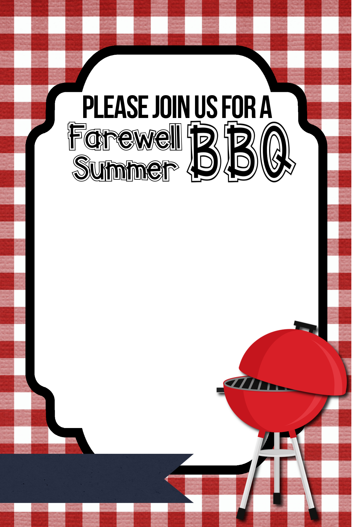 farewell summer free printable bbq invitations