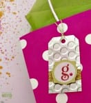 Create these embossed metal gift tags to add a perfect homemade touch to any gift!