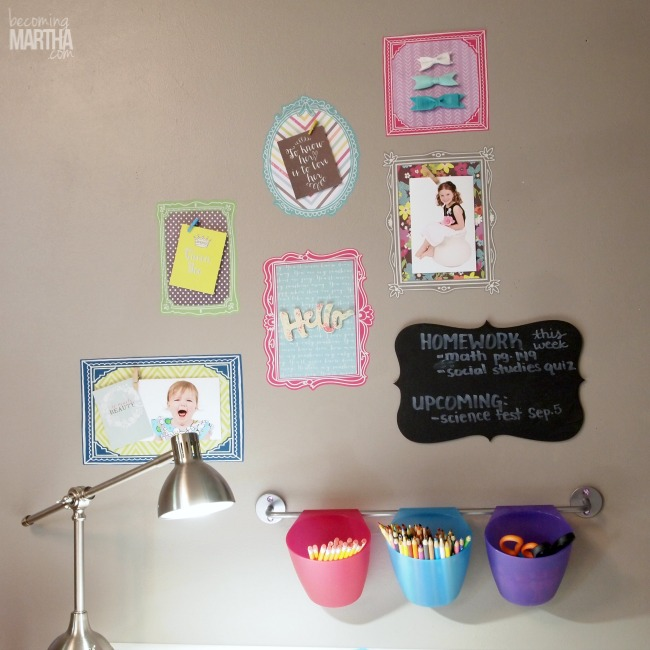 3D Gallery Wall with Fabric Decal Frames