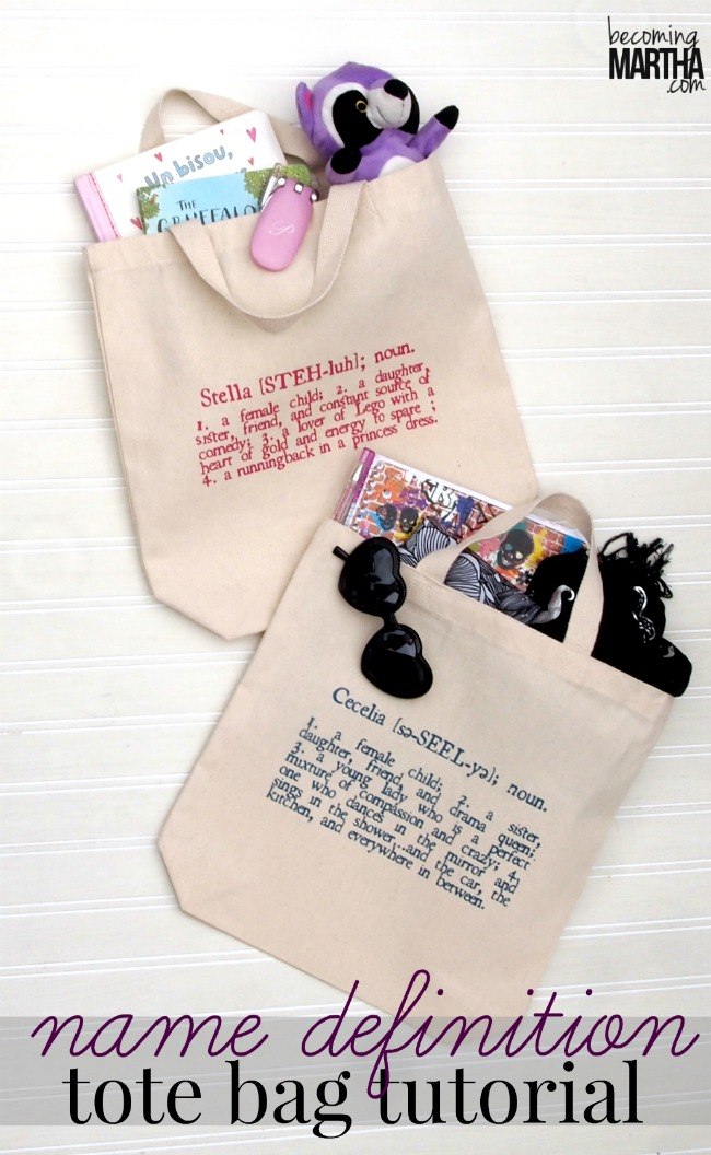 Personalized Tote Bags with Name Definitions