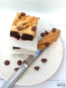 Peanut Butter Poke Cake Brownies