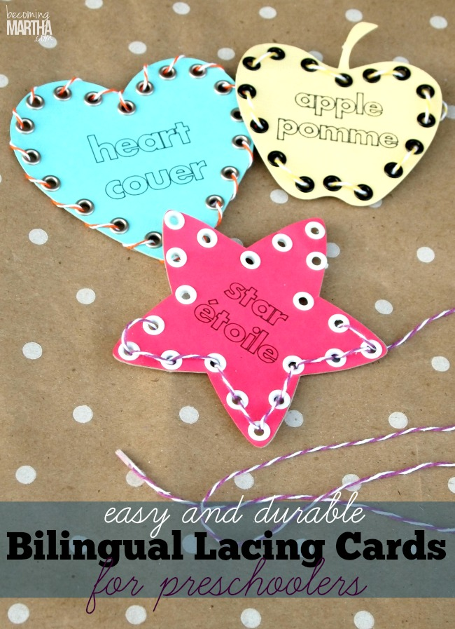 Make Your Own Lacing Cards for Preschoolers