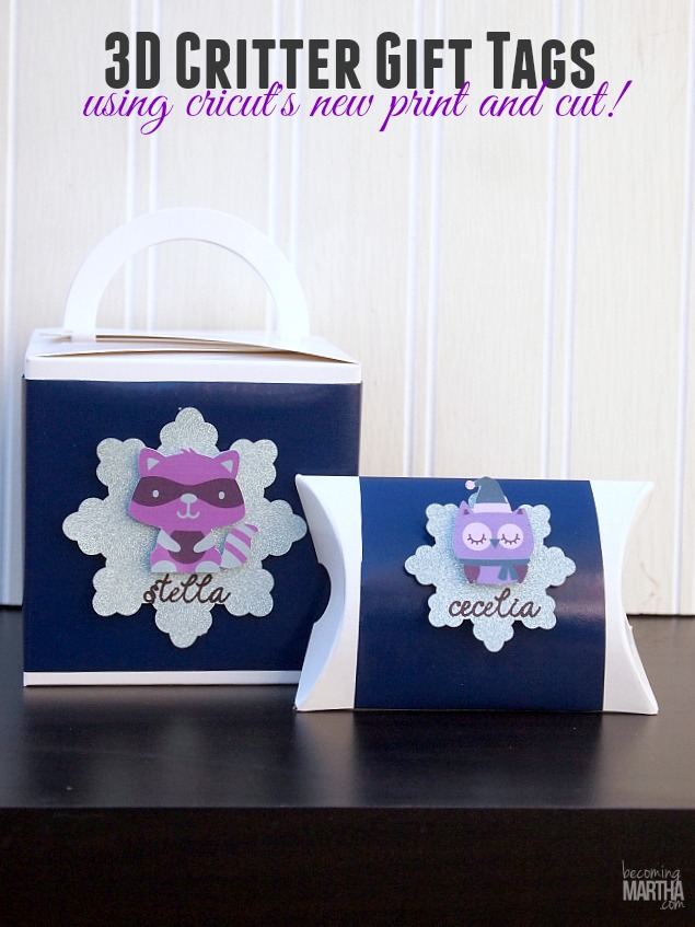 3D Gift Tags with Cricut's Print and Cut