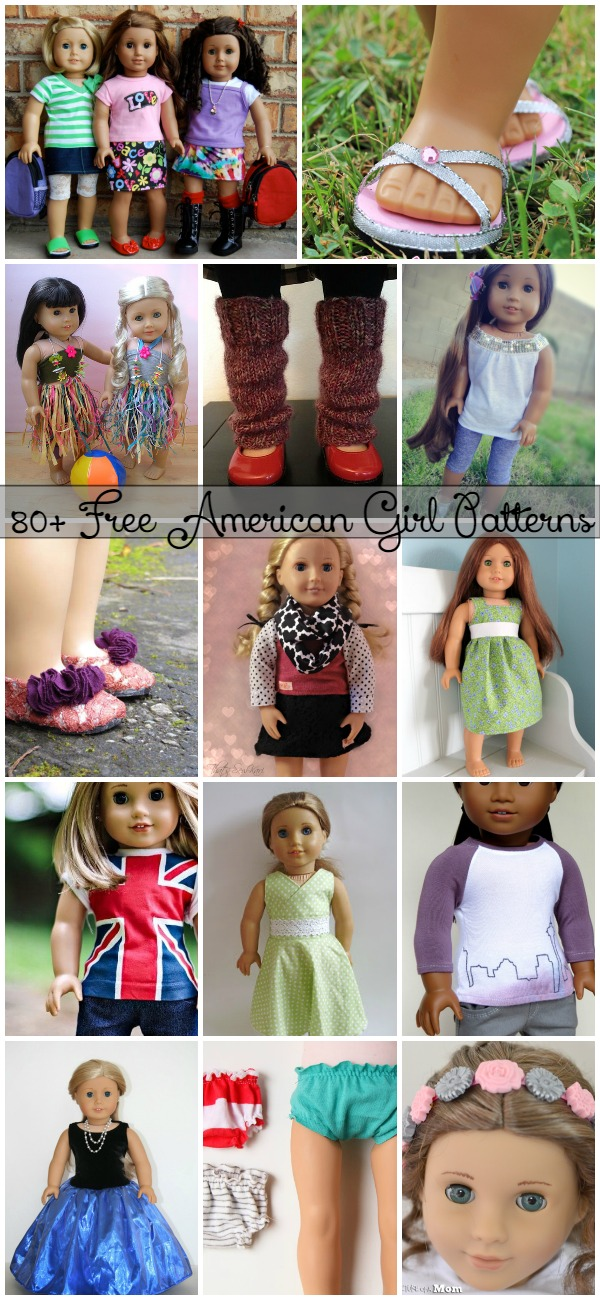 80+ Free American Girl 18″ Doll Patterns