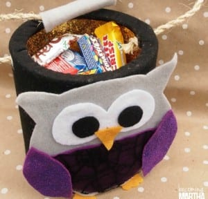 Felt Owl DIY Halloween Treat Bucket
