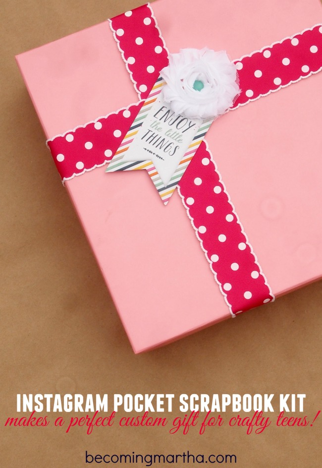 DIY Gift Giving Idea – Instagram Scrapbook Kit