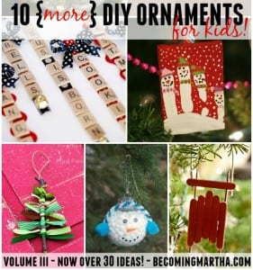 DIY Kids Ornaments – Vol III