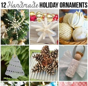 12 Handmade Holiday Ornaments & Monday Funday 11/30