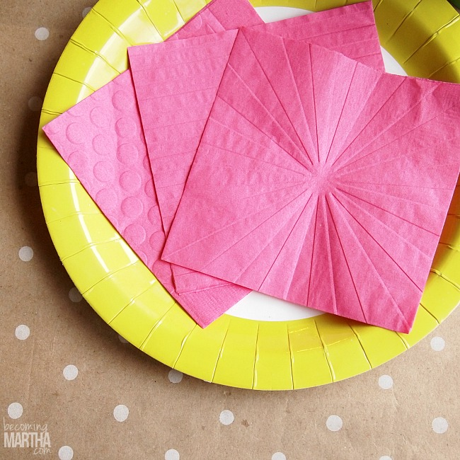 DIY Embossed Napkins