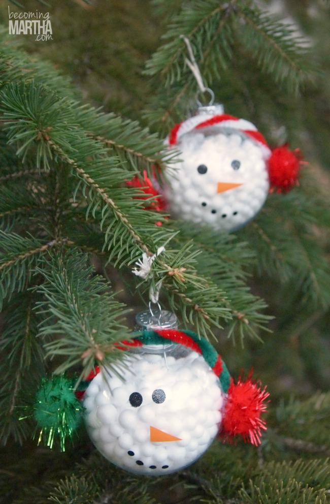 This DIY Snowman Ornament Is So Easy That Even The Kids Can Do It