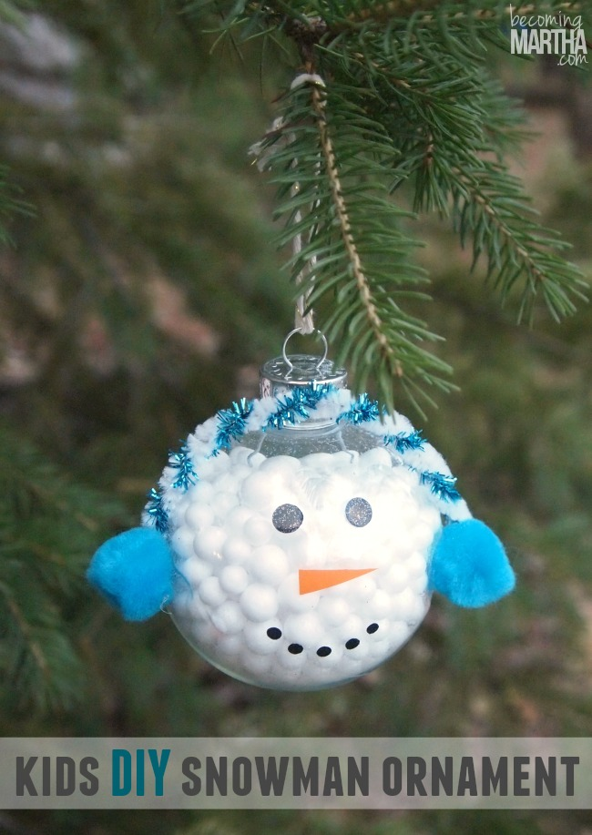 Make A Kids Snowman Ornament