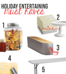 Holiday Entertaining Must Haves from BecomingMartha.com