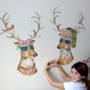 Dress Up Reindeer Wall Decals