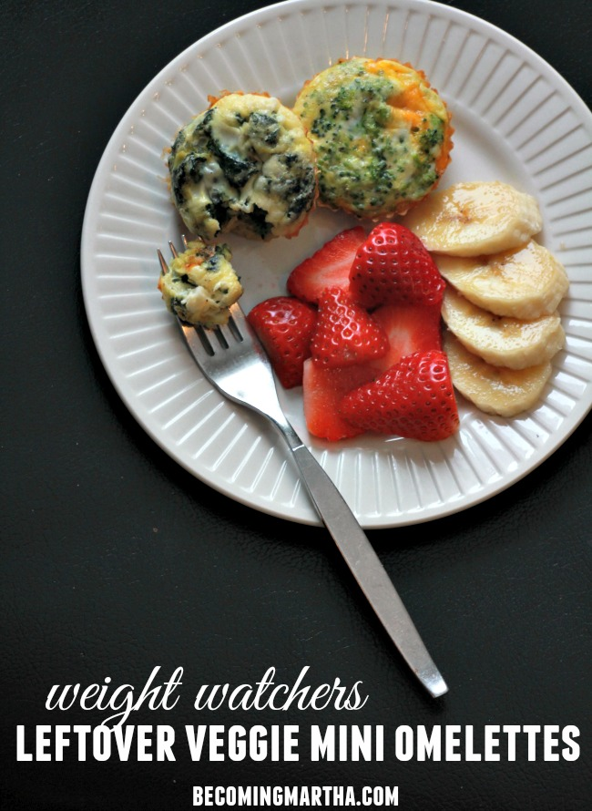 Weight Watchers Omelettes with Leftover Veggies