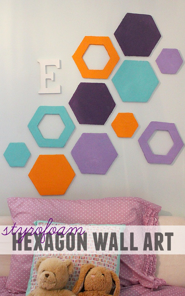 Styrofoam Hexagon Wall Art