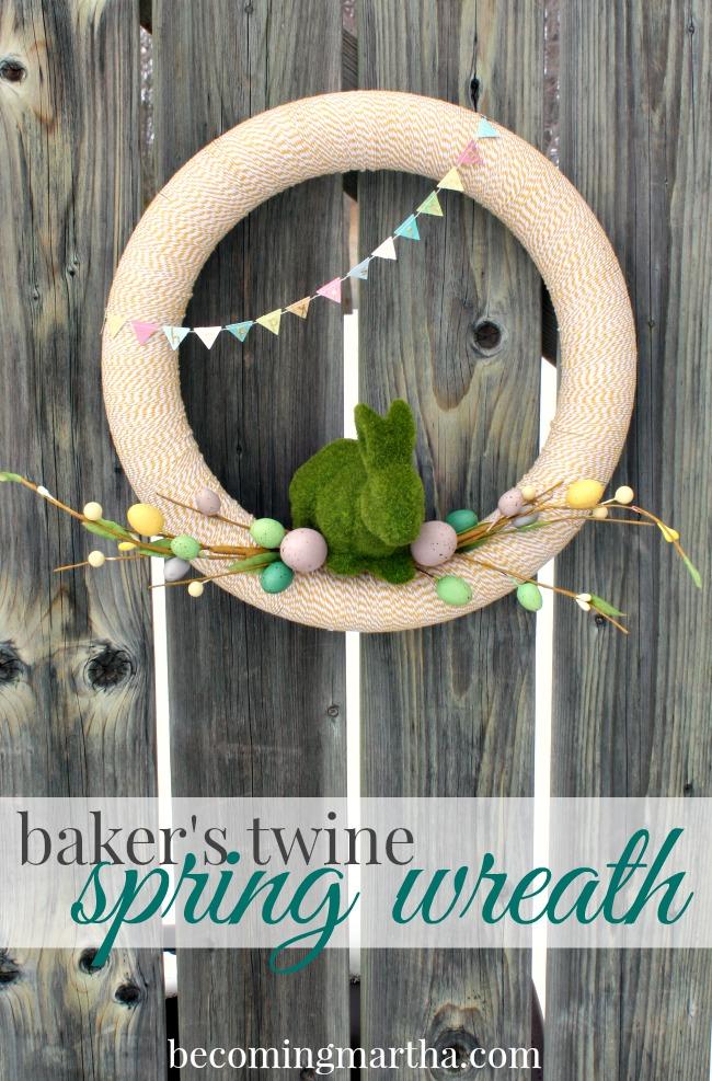 Baker's Twine Spring Wreath
