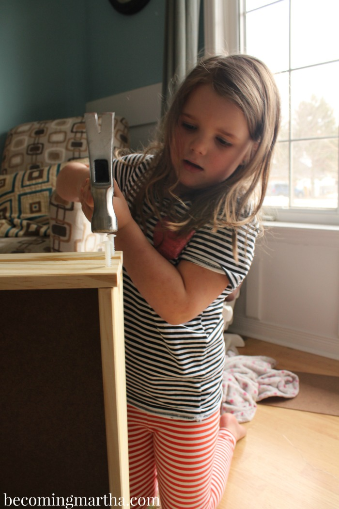This Ikea Rast hack is perfect for a kids bedside table - a cute design with some extra storage!