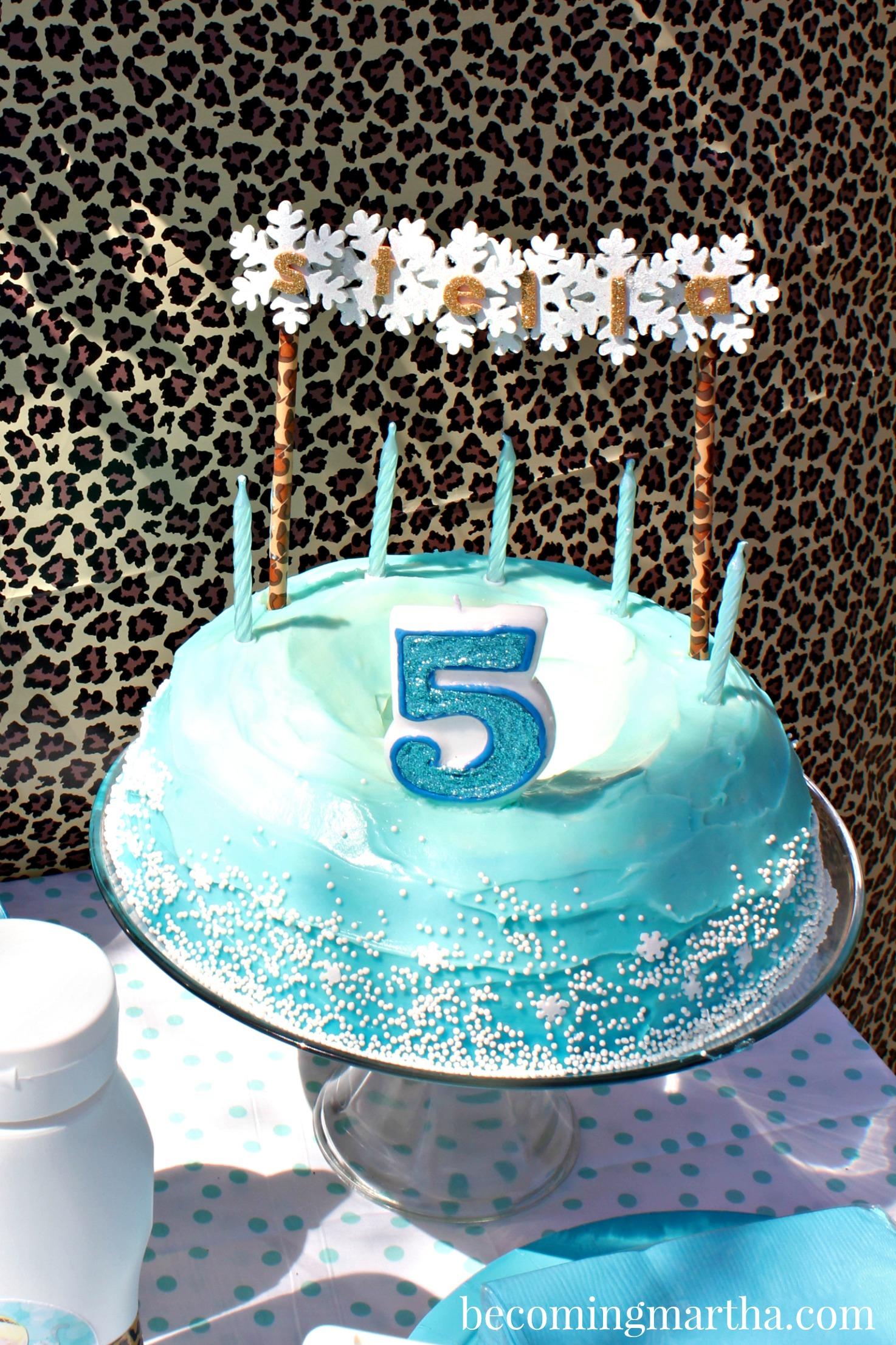 An Elsa / Cheetah Mash-Up Party at BecomingMartha.com!