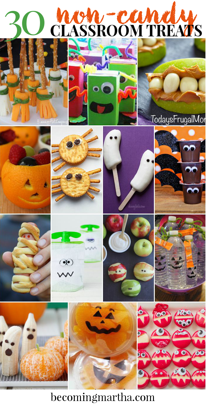 Classroom Treat Ideas ~ Non candy classroom halloween treats the simply