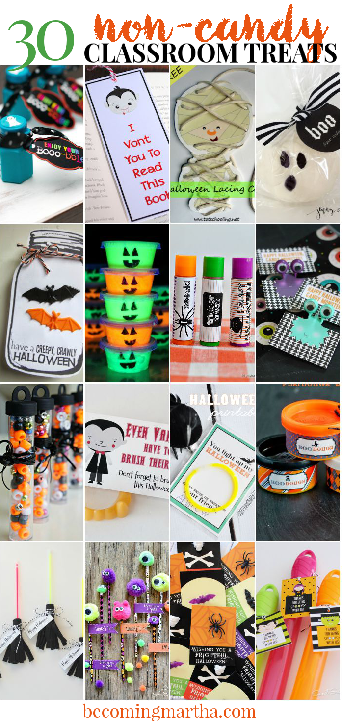 Printable Halloween Classroom Decorations ~ Classroom halloween treats that are candy free the