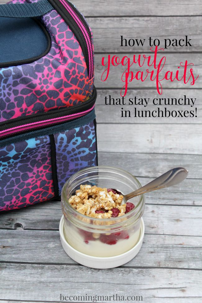 How to Pack a Lunchbox Yogurt Parfait