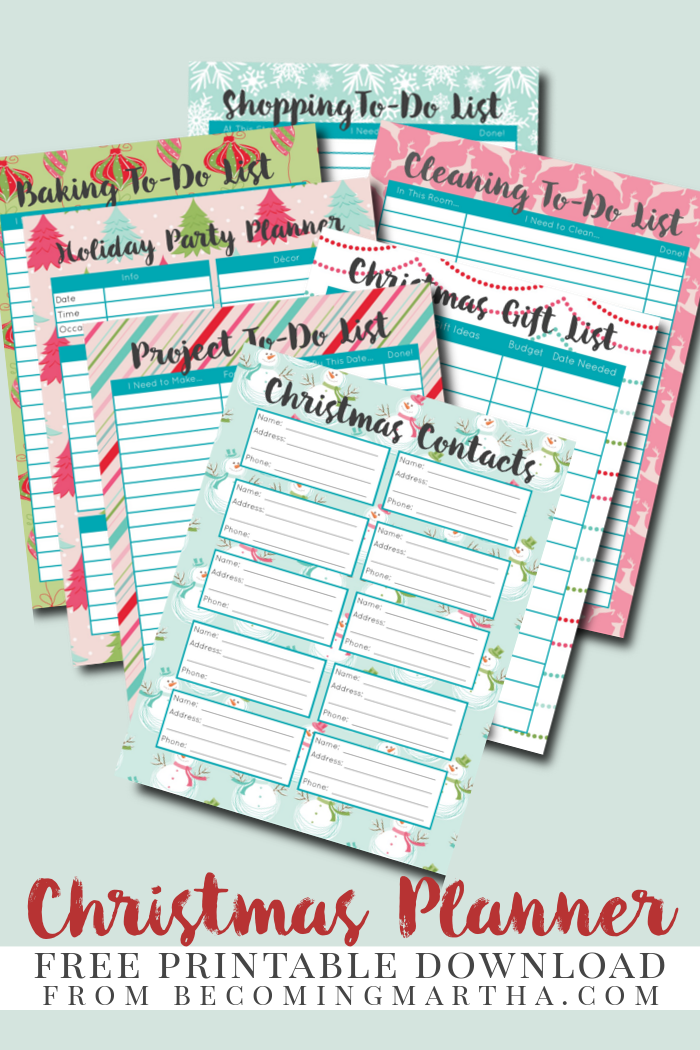 christmas planner download