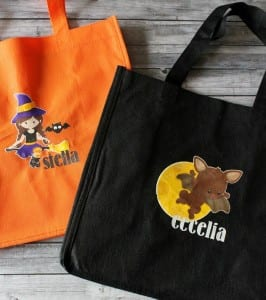 Personalized Trick or Treat Bags with Printable Vinyl