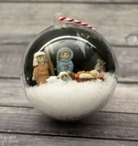 Nativity Snow Globe Ornament