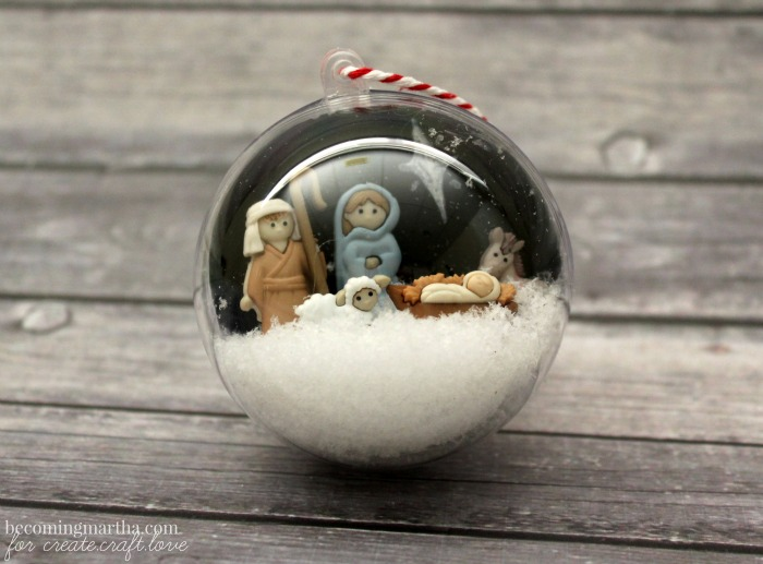 Nativity Snow Globe Ornament