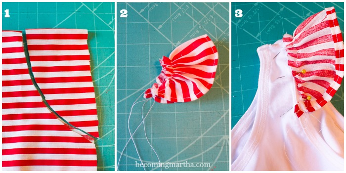 Make thie adorable Christmas dress in under an hour with just a pillow case and a