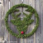 Moss Covered Deer Wreath