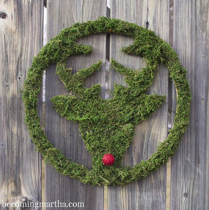Moss Covered Deer Wreath