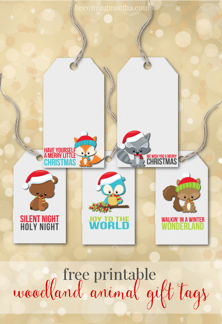 Woodland Animal Printable Christmas Tags