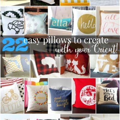cricut pillow collage