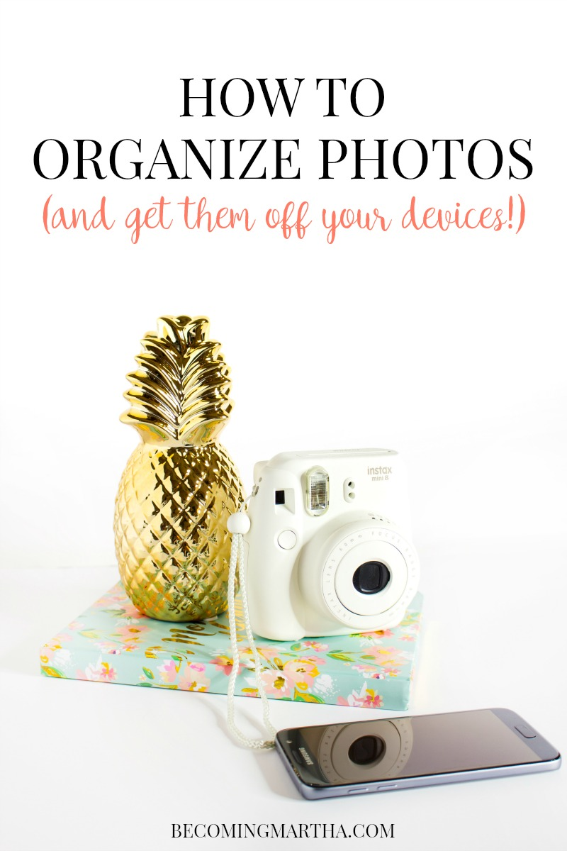 Ever wonder how to organize photos? Do you look at your collection of pictures and not know where to begin? This post will share the how to organize photos, and how to create beautiful family albums without the stress!