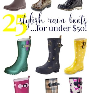 25 Stylish Rain Boots Under $50