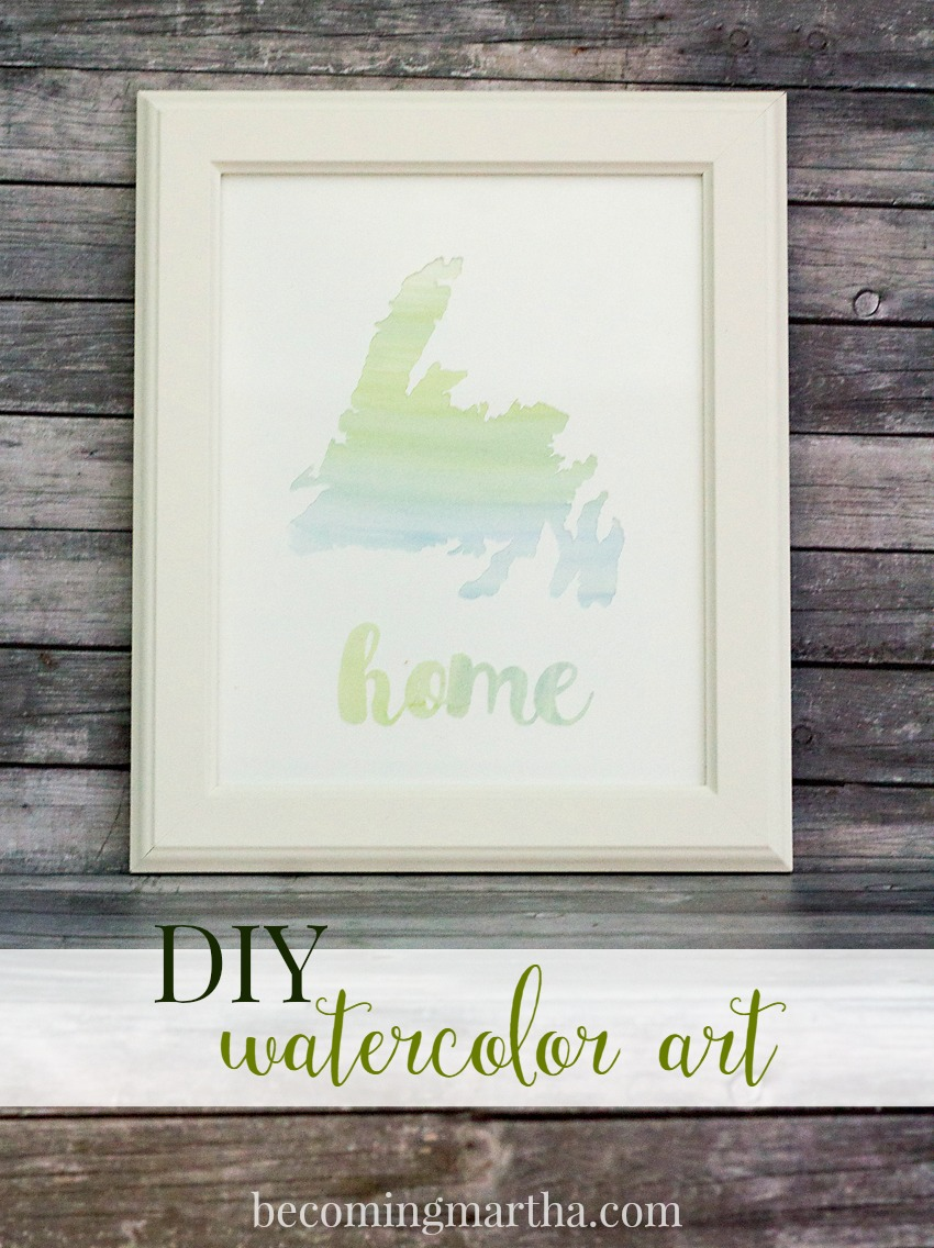 This DIY Watercolor Art is easy to create yourself - no painting experience required! Best part of all? It's easy, affordable, and totally customizable.