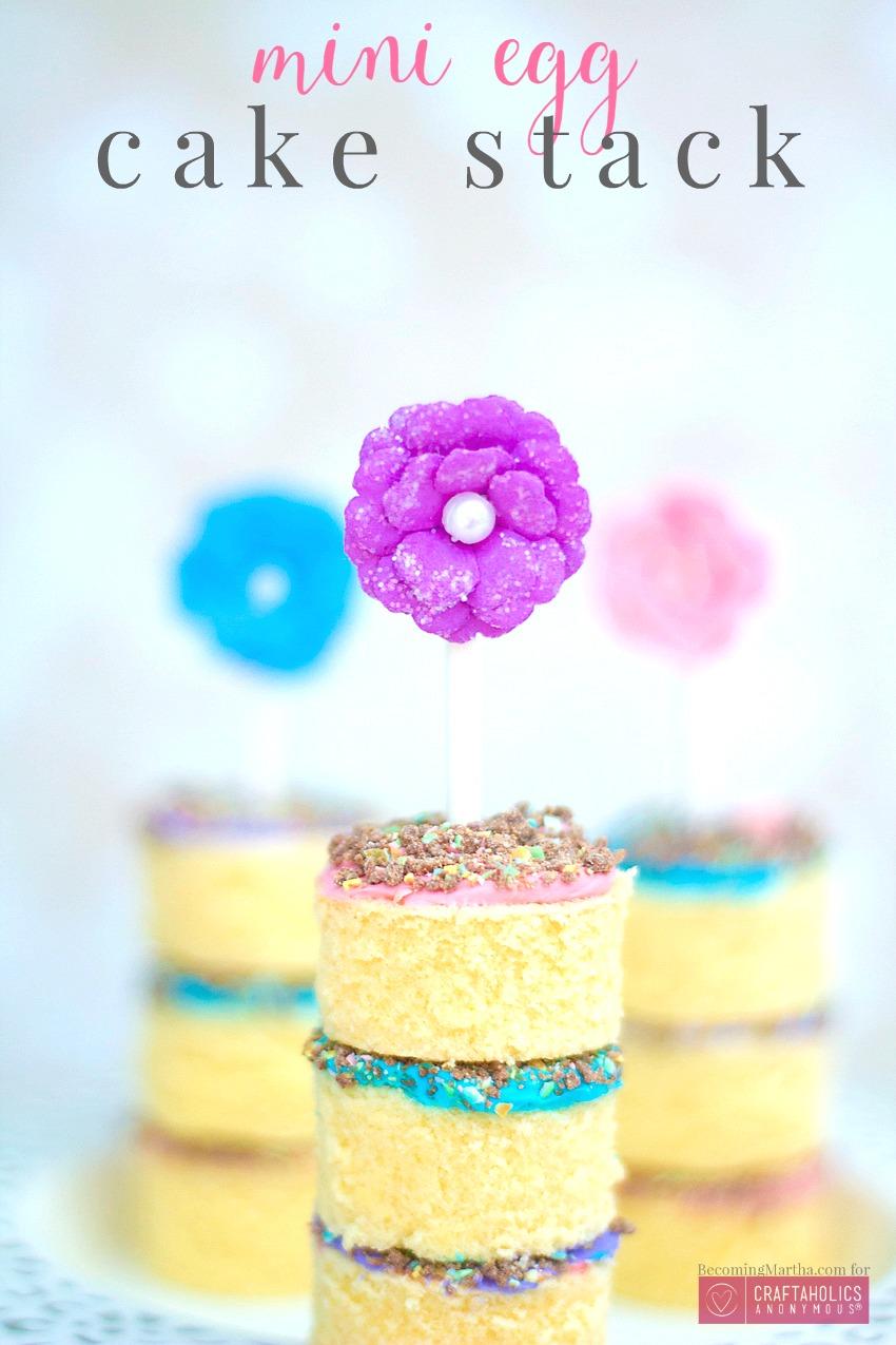 mini egg cake stack 9a