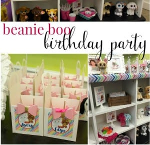 Beanie Boo Party for a Sixth Birthday