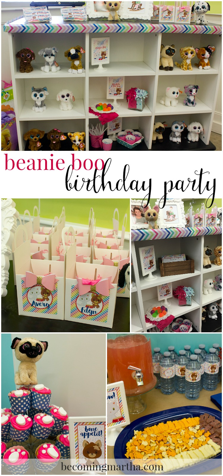 beanie boo birthday party collage