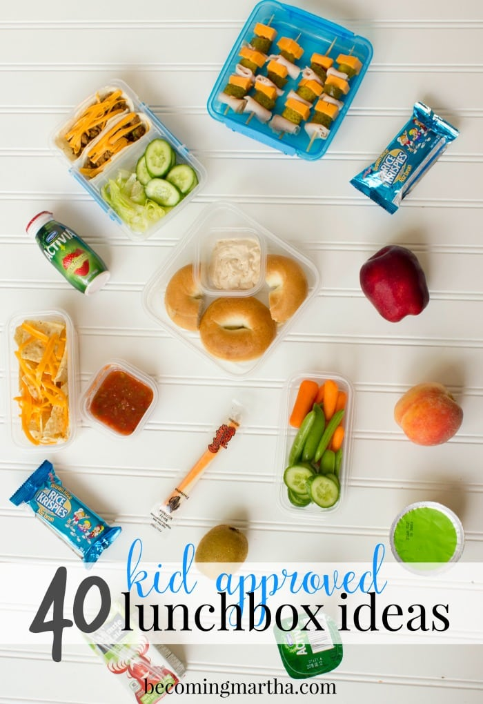 Over 40 kid approved school lunch ideas - straight from the kids themselves! Make them say #IApproveThisLunch with healthy ideas for mains and snacks!